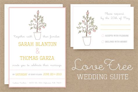 free wedding invitation suite templates lovetree wedding invitation suite invitation templates