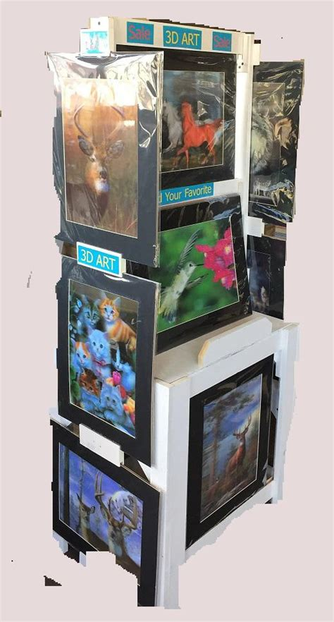 Display To Hold Multiply Matted Pieces - displays available 3dddpictures