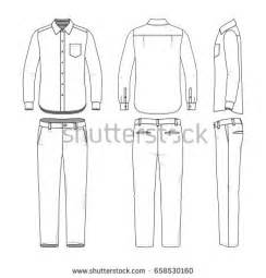 Blank Clothing Templates stock images royalty free images vectors