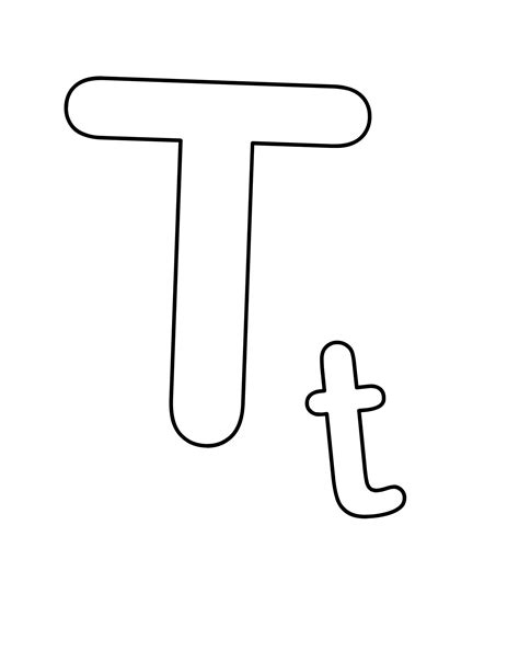 coloring page letter t letter t coloring pages to and print for free