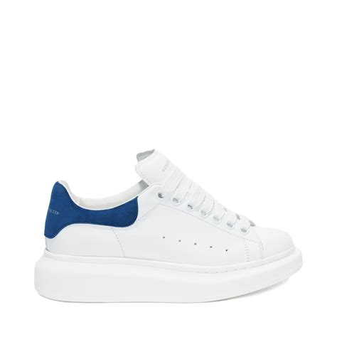 blue and sneakers mcqueen oversized sneaker in blue for lyst