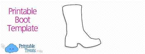 Boot Template by Printable Boot Template Printable Treats
