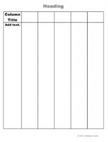 four column chart template search results for blank 3 column template word
