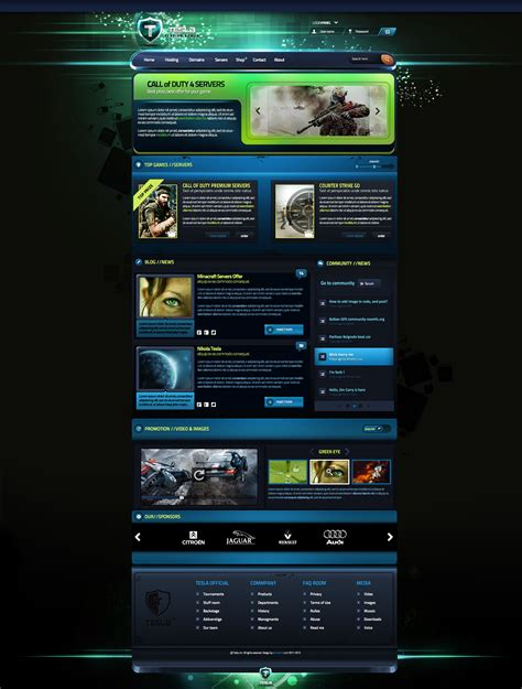 templates for gaming website tesla gaming template for sale by boriswick on deviantart