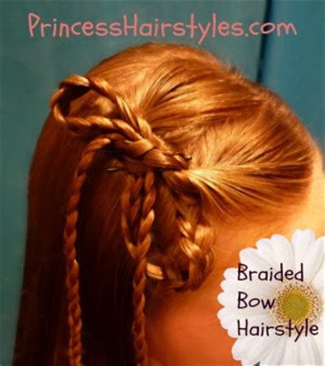 braided hairstyles bow braided bow hairstyle hairstyles for girls princess