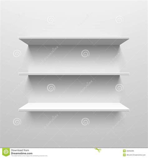 white wooden wall shelves