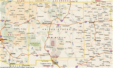 maps of new mexico new mexico on us map afputra