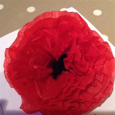 How To Make A Paper Poppy - how to make tissue paper poppies 9 steps with pictures