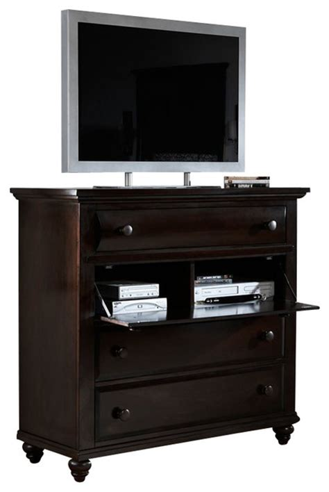 black bedroom dressers and chests broyhill farnsworth media chest in inky black stain