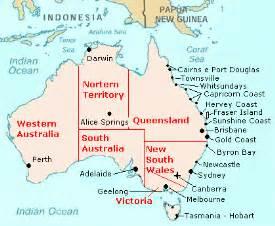Map of australian cities
