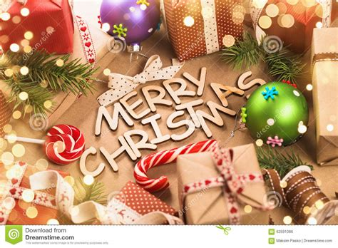 merry christmas decorations stock photo image 62591086