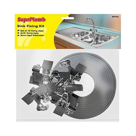 kitchen sink fixings 10 pack kitchen sink fixing clips 3m sealing tape worktop fitting clamps kit ebay