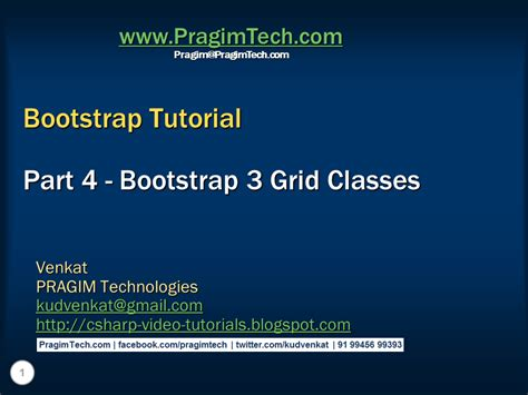 Tutorial Bootstrap 3 Grid | sql server net and c video tutorial bootstrap 3 grid