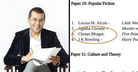 chetan bhagat biography in english is chetan bhagat s proposed inclusion in du s english