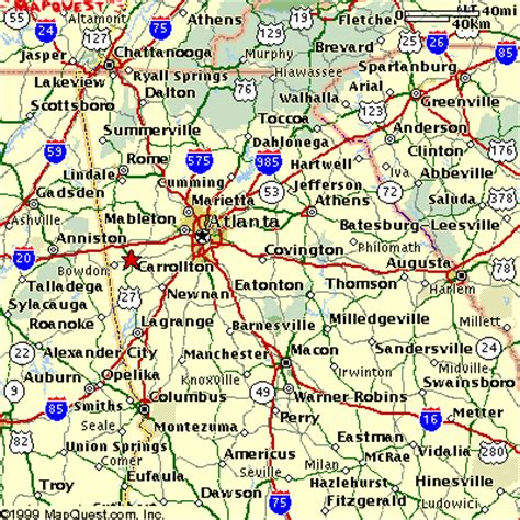 map of usa showing atlanta maps of cities