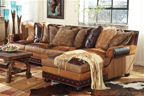 western style living room furniture prairie patchwork sectional sofa decor leather rustic
