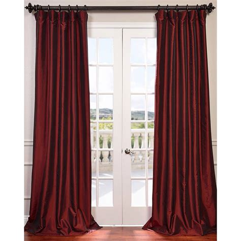 taffeta curtains clearance syrah 84 x 50 inch blackout faux silk taffeta curtain