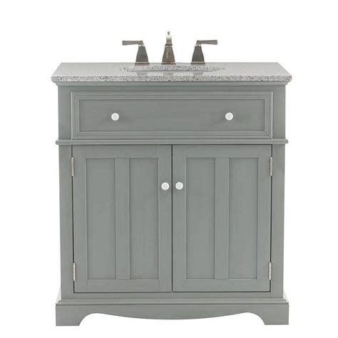 home decorators collection fremont 32 in vanity in grey