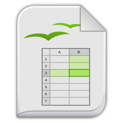 Open Document Spreadsheet Excel by App Vnd Oasis Opendocument Spreadsheet Icon Leaf Mimes