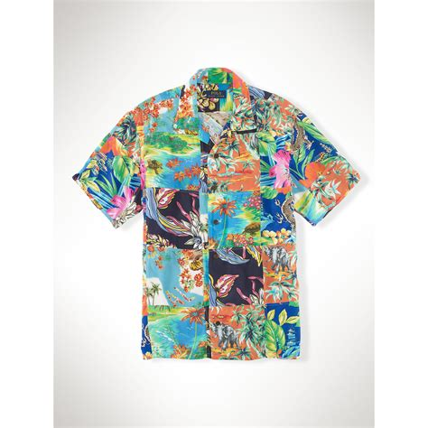 Patchwork Shirt - polo ralph hawaiian patchwork c shirt for lyst