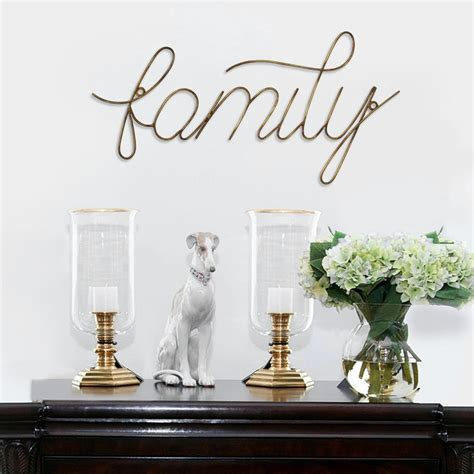 family wire script wall decor stratton home decor decorative wire vase diy home decor diys livingly