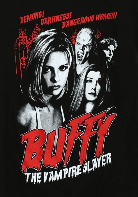 buffy the womens buffy the slayer cult poster t shirt