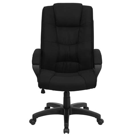 flash furniture high  black fabric executive swivel chair  arms   bk gg