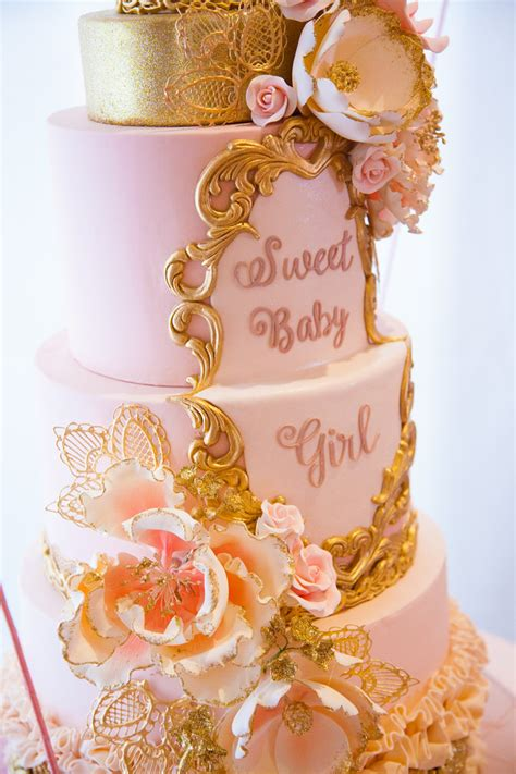 pink  gold tutu cute baby shower baby shower ideas themes games