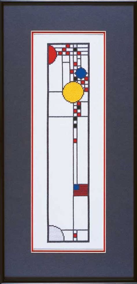 coonley house windows frank lloyd wright designs in counted cross stitch choose kits and charts