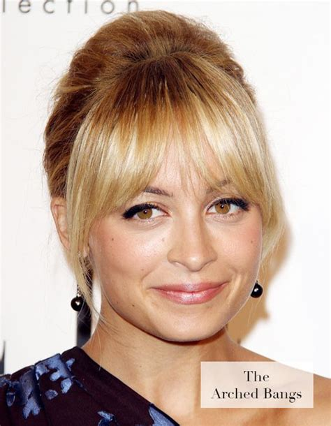 oval face full fringe bangs nicole richie and oval face shapes on pinterest