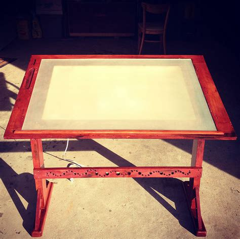 Drafting Table With Lightbox Diy Table Projects