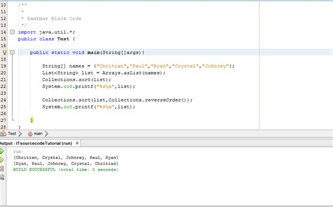 tutorial php com netbeans collection method sorting in java tutorial using netbeans ide