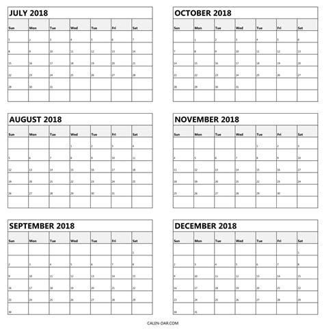 free 6 month calendar template printable 6 month calendar printable 360 degree