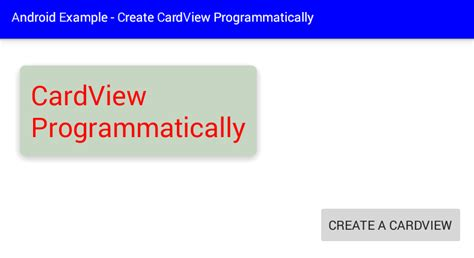 android layout params programmatically android how to create a cardview programmatically