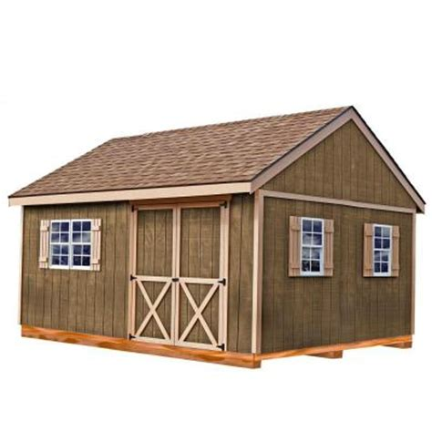 Home Depot Wooden Sheds by Best Barns New Castle 16 Ft X 12 Ft Wood Storage Shed