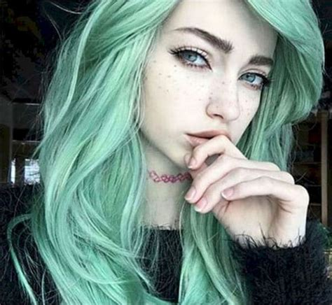 mint green hair color 31 glamorous green hairstyle ideas ambie