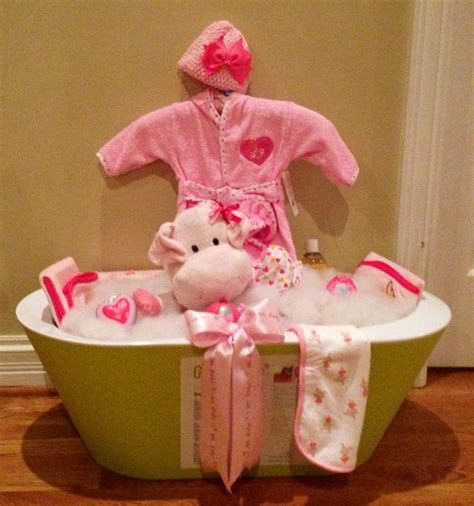 bathroom gift basket baby shower bath tub basket gift ideas pinterest