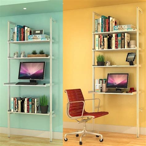 stand up l with shelves sale item stand up desk with pal aluminum shelves modern