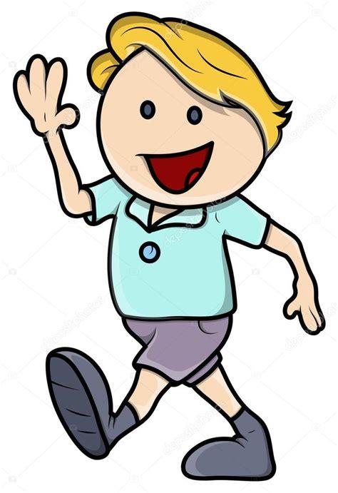 imagenes animadas jpg ni 241 o feliz caminar ilustraci 243 n de dibujos animados