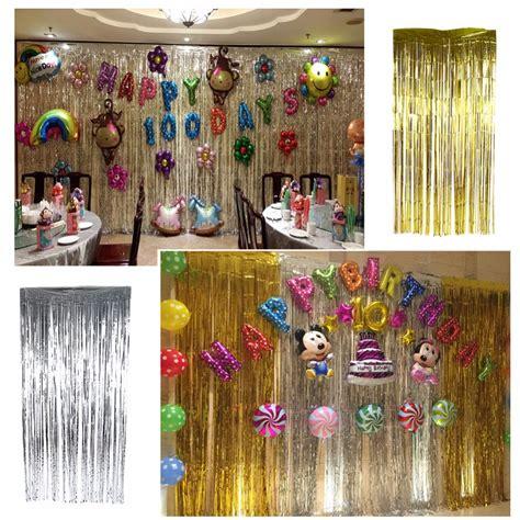 Foil Curtain Silver 3m foil curtain decoration curtain menzilperde net