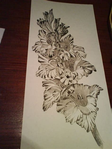 gladiolus sketch personal style tattoos poppies