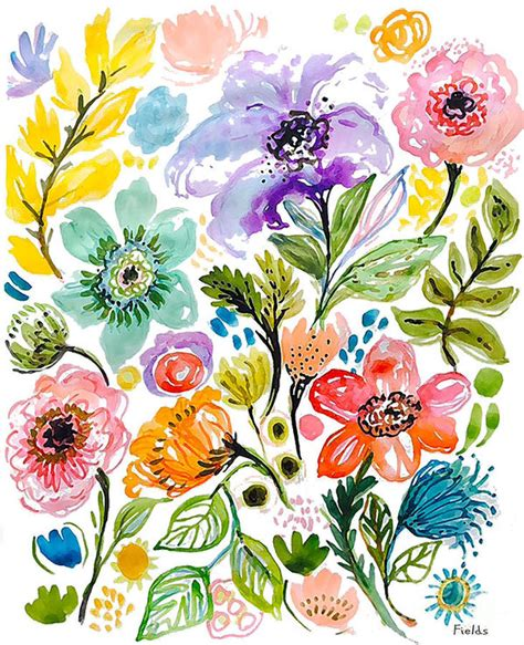 printable beautiful flowers beautiful flowers art print by karen fields