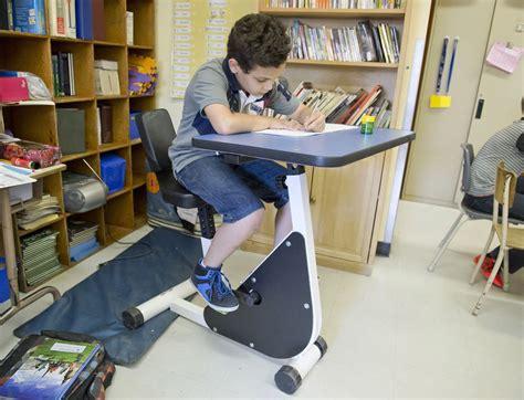 banco lavoro bici la bici banco per gli studenti iperattivi adhd