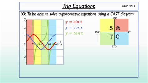 trigonometry cast diagram solving trig equations using a cast diagram by annah03