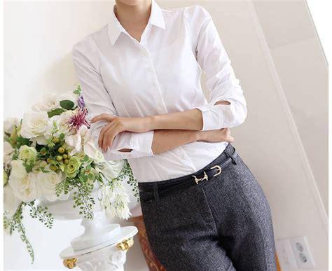 Kemeja Polos Tangan Panjang Korea Wanita New Premium Product kemeja kerja wanita import putih lengan panjang model newhairstylesformen2014