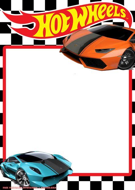 Free Hot Wheels Lamborghini Invitation Templates Free Invitation Templates Drevio Wheels Birthday Invitation Template
