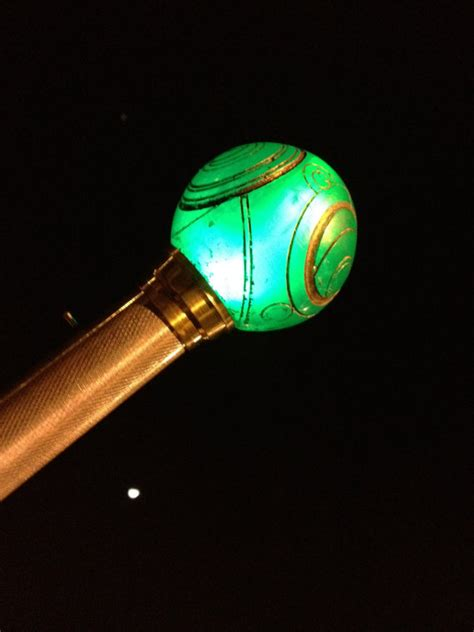 steunk style light up walking cane also comes in blue