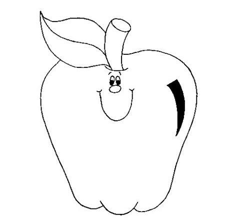 imagenes para colorear manzana dibujo de manzana 1 para colorear dibujos net