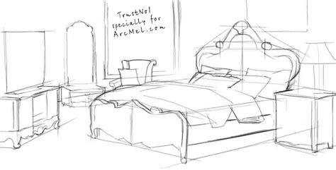 how to draw a bedroom step by step how to draw a bed step by step arcmel com