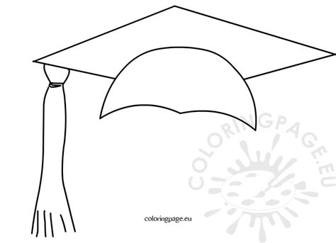 Graduation Cap Coloring Pictures To Pin On Pinterest Graduation Cap Coloring Page